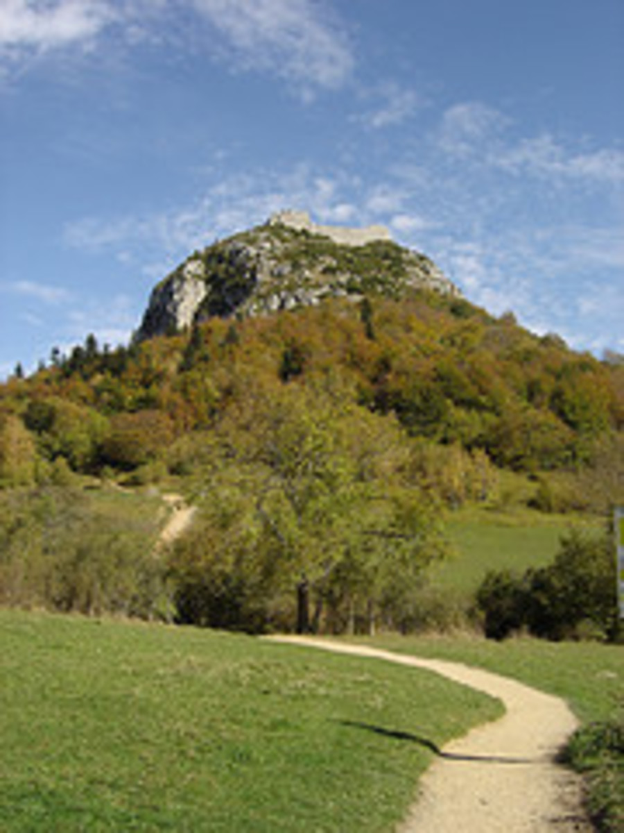 The castle at Montsegur - the killing field below?