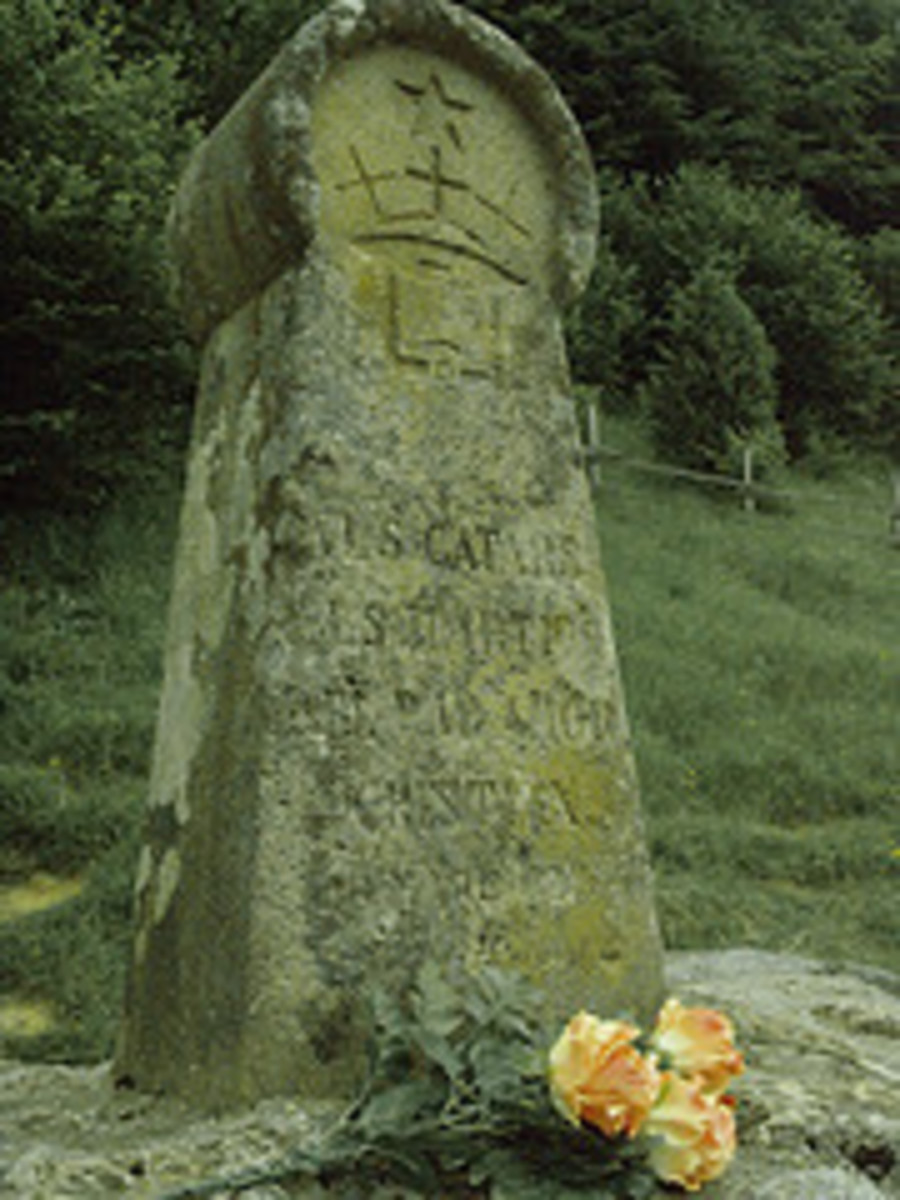 A Cathar memorial ..