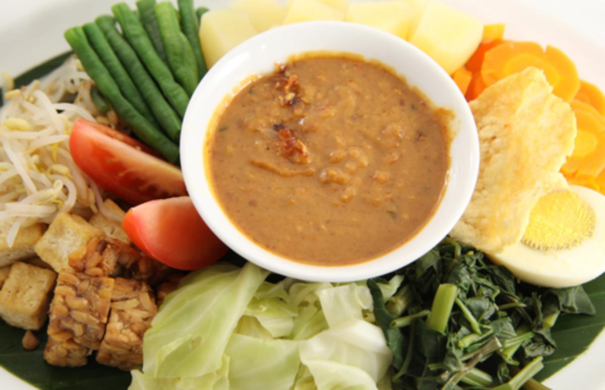 Gado-Gado: a vegetable dish synonymous with Indonesian cuisine internationally. Image:  erwinova|Shutterstock.com