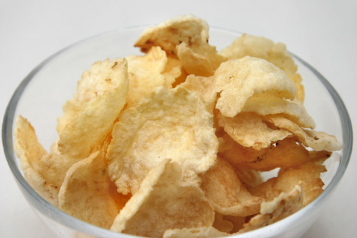 Fried Emping - Indonesian nut-based cracker/crisp. Image:  Chin Kit Sen|Shutterstock.com