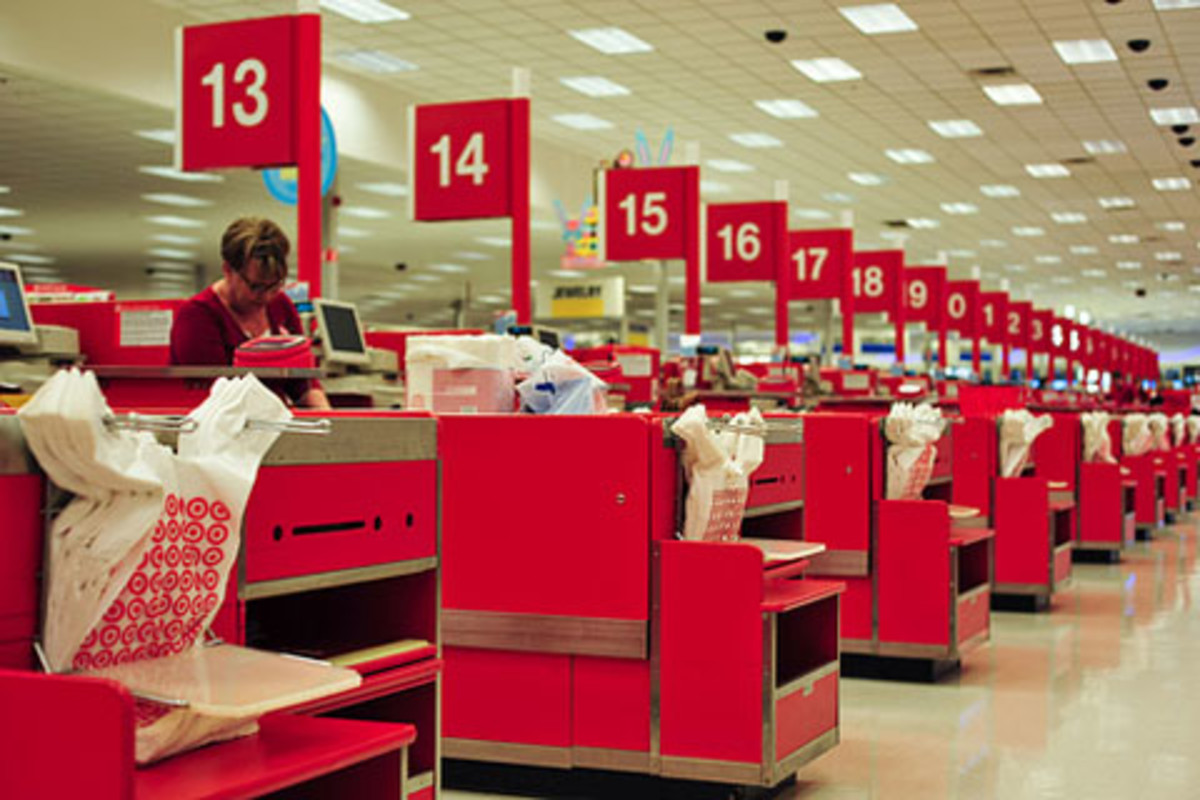 Target Stores Checkout Lanes