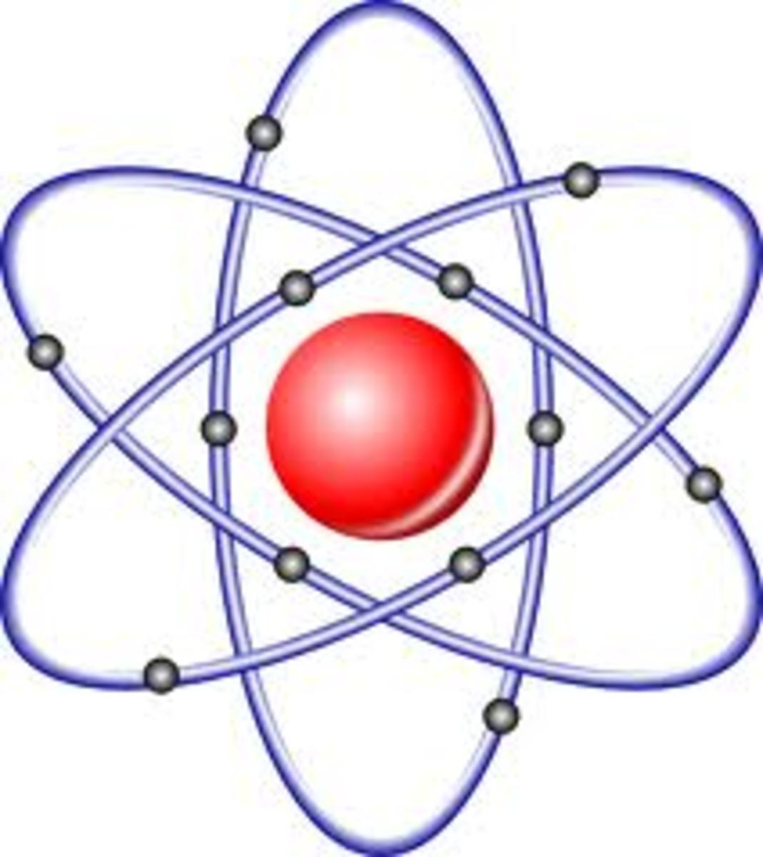 The atom was thought to be the smallest divisible particle. The atom is a basic unit of matter that has a dense central nucleus surrounded by electrons