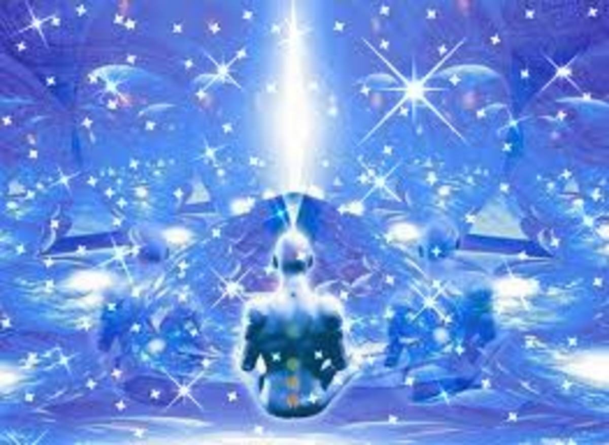 Use your imagination and think about all the lights that you see in the sky at night and then think again that some of them are not visible and could be spiritual things from the other side.