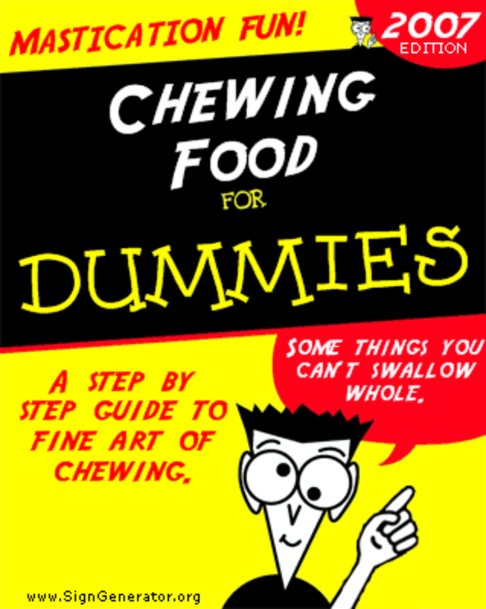 Can you believe there is a For Dummies book for chewing?