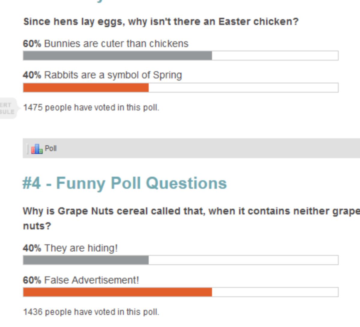 Funny Poll Questions