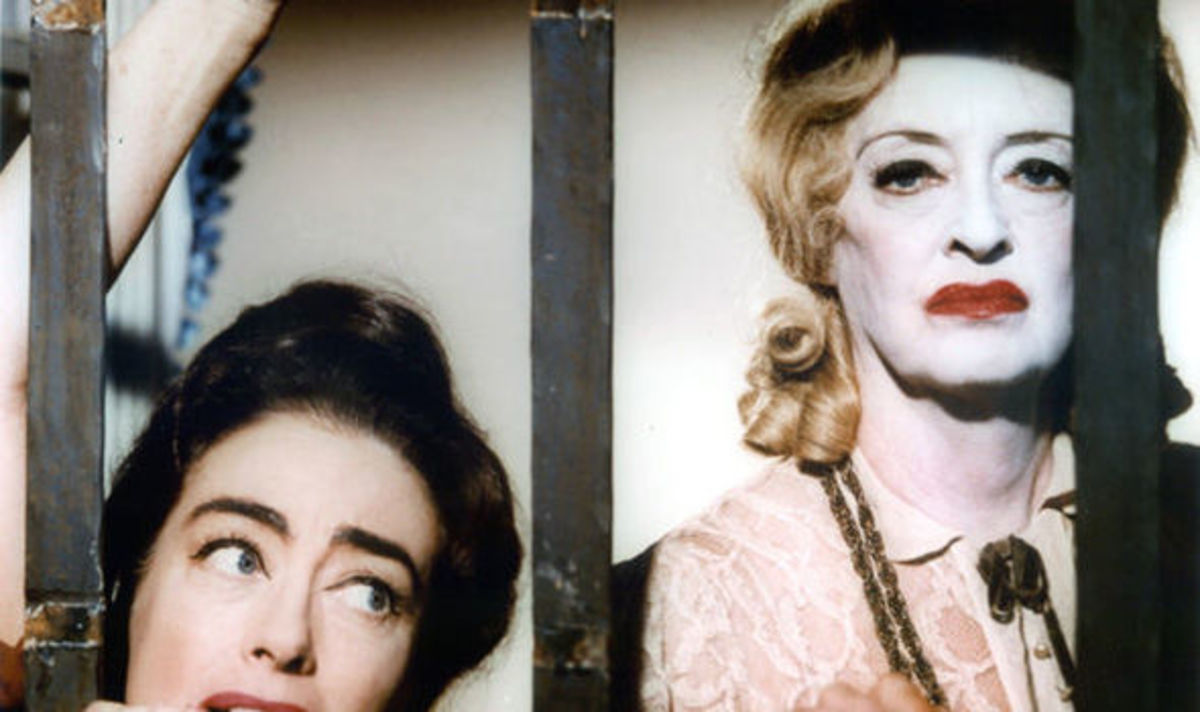 "Davis and Joan Crawford in ""What Ever Happened to Baby Jane?"" (1962)"