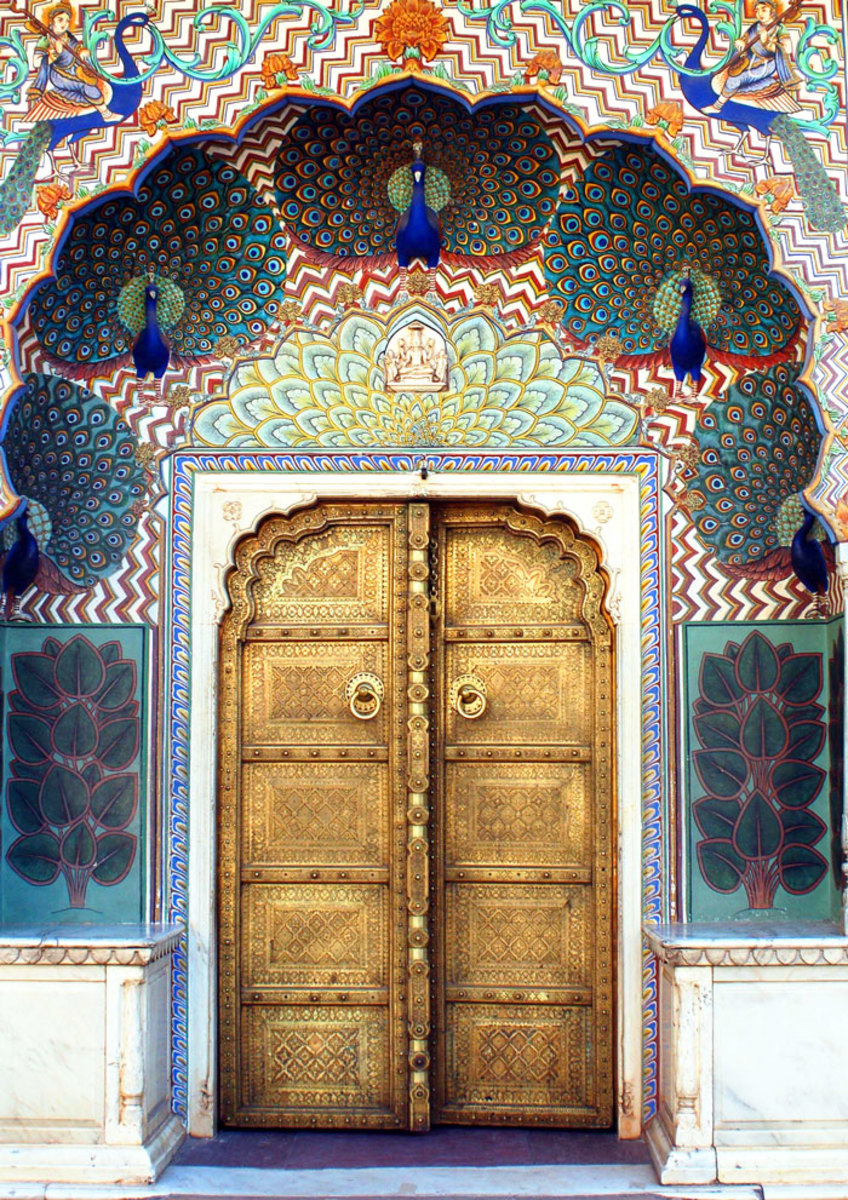 The peacock gate at City Palace, Jaipur, India