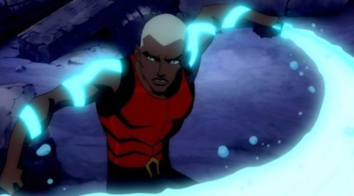 Aqualad and his cool water weapons