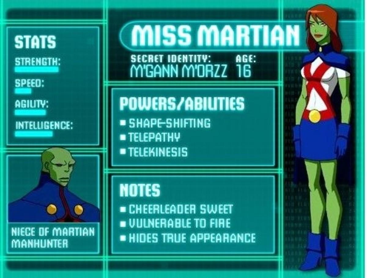 Miss Martian - M'gann M'orzz - Megan Morse