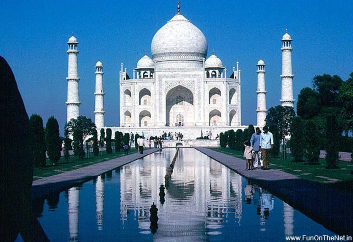 The Magnificent Taj Mahal.