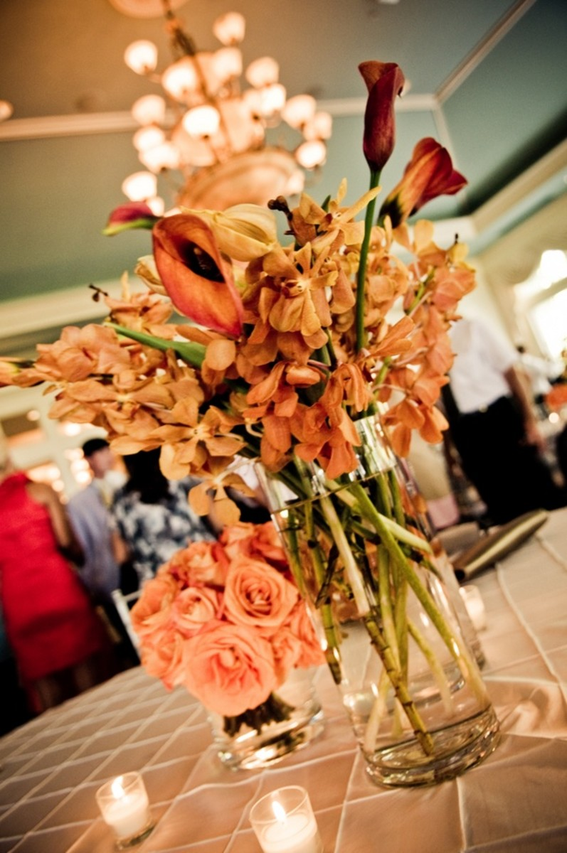 Beautiful at a wedding but I can see in a home in Spring or Fall