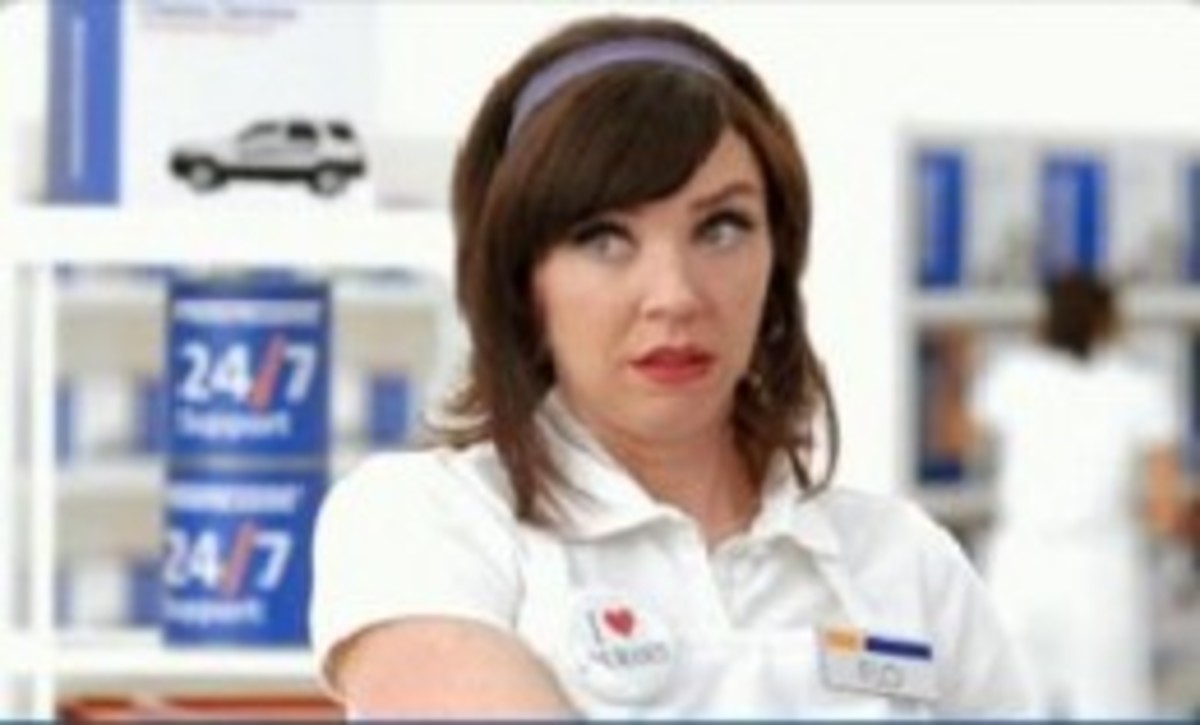 How do I dress like the progressive flo from the progressive commercials?