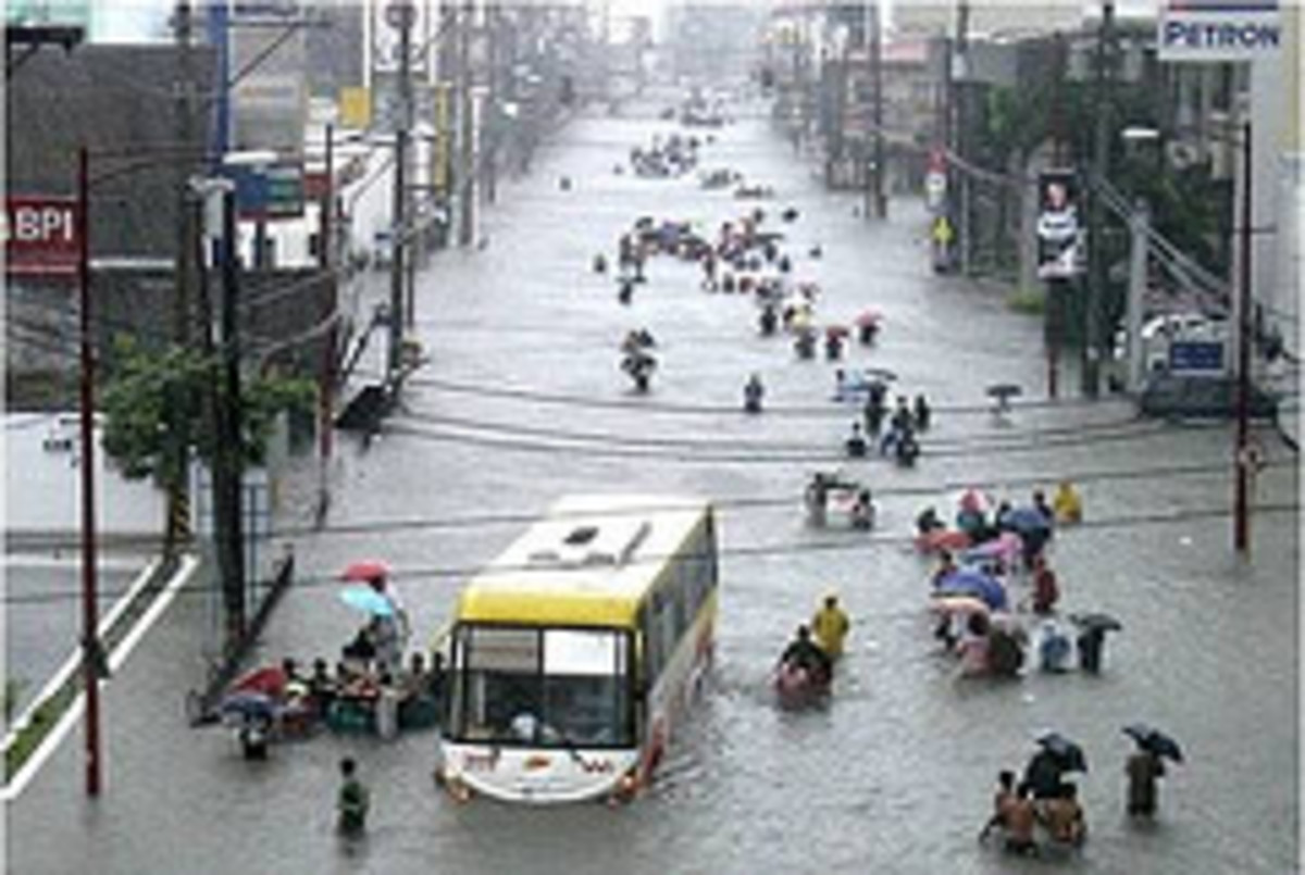 Flood is part of disaster which is different on every one -- it can be a pure disaster, bala, punishment, reprimand or warning, and exam