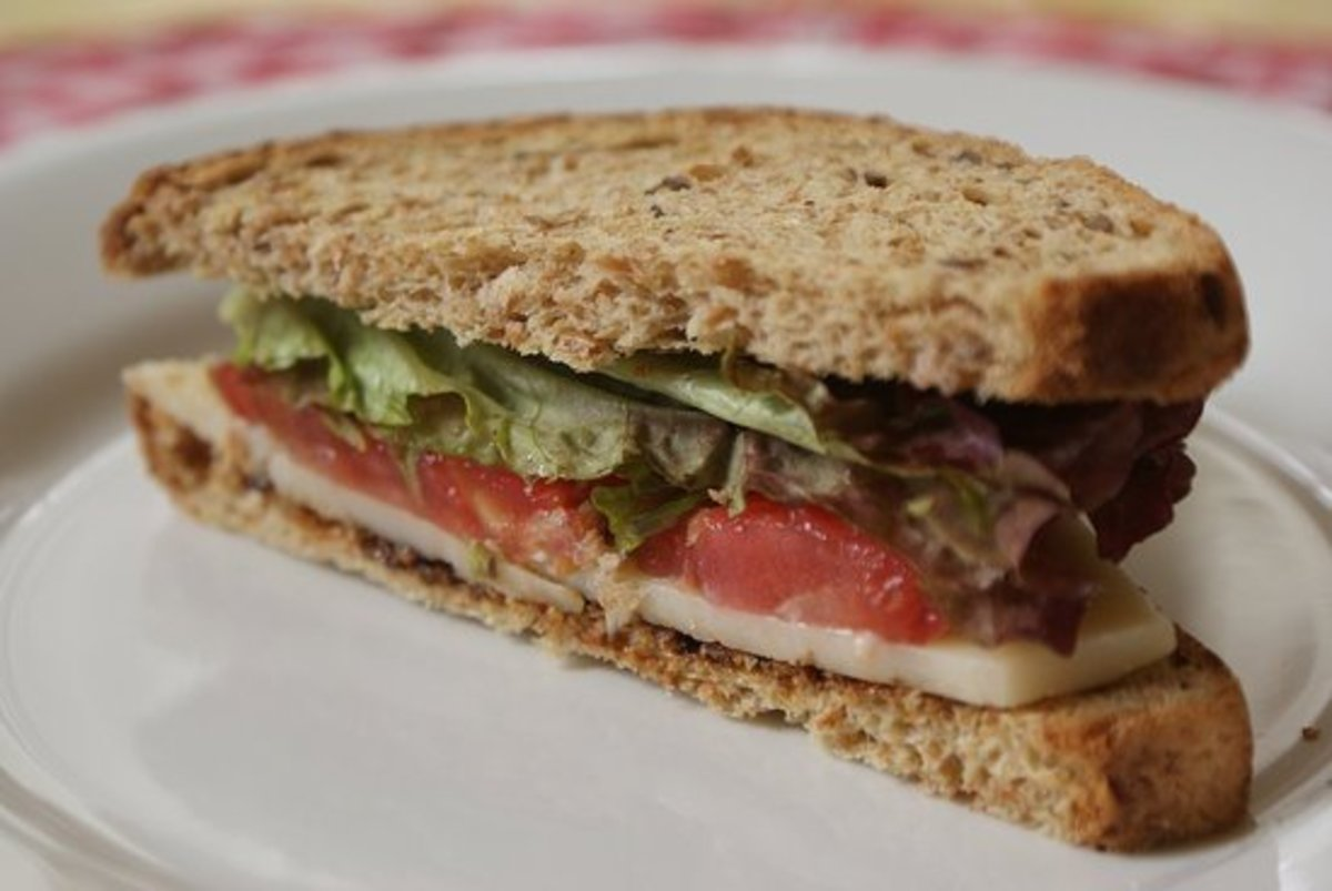 A Vegemite and salad sandwich.  You can use a thin layer of Vegemite to your slices of bread before you add your desired salad fillings to give a slightly salty flavour to your sandwich.