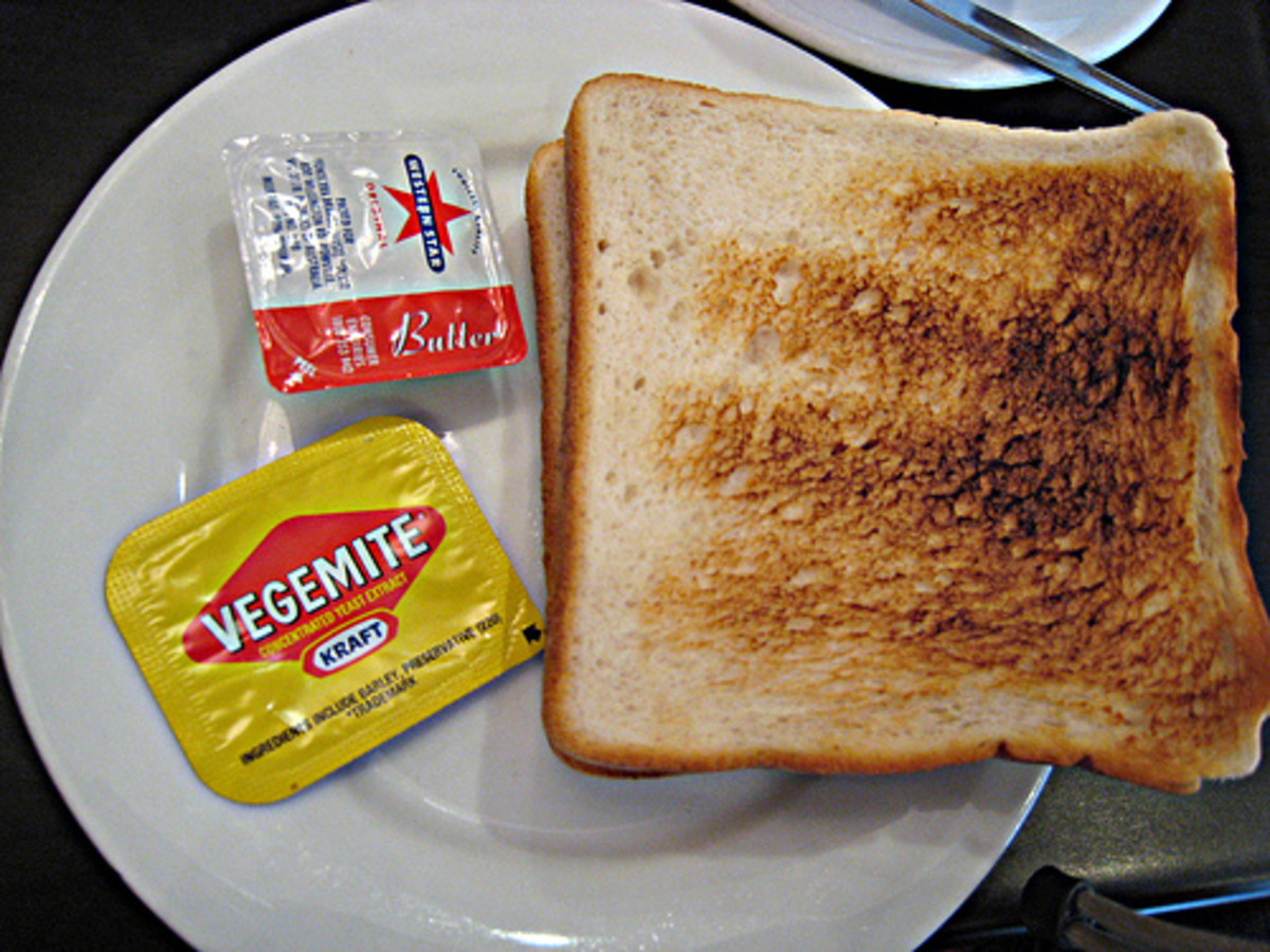 Little packets / sachets  / plastic containers of Vegemite and the usual mini butter containers are a staple at pretty much all Australian hotels where a hot buffet breakfast or light continental breakfast is served.