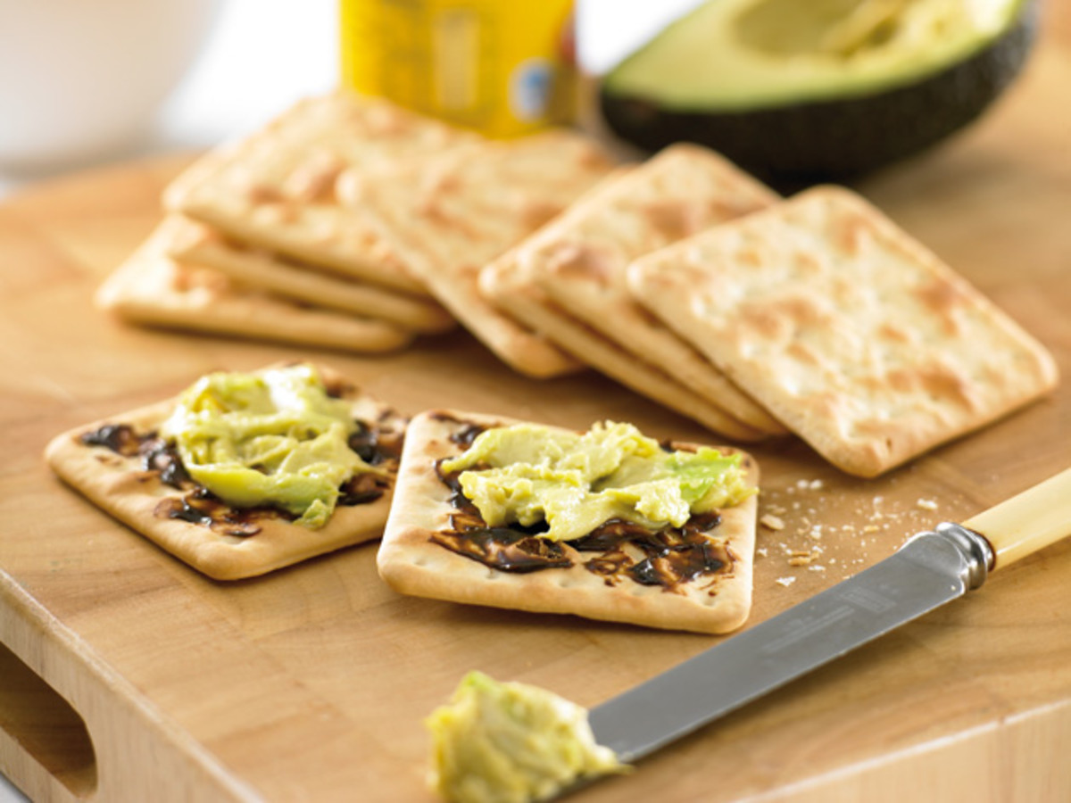 Here's another way to combine Vegemite and avocado - spread an avocado paste or thin slices of avocado on top of a thin layer of Vegemite on a cracker or crispbread.