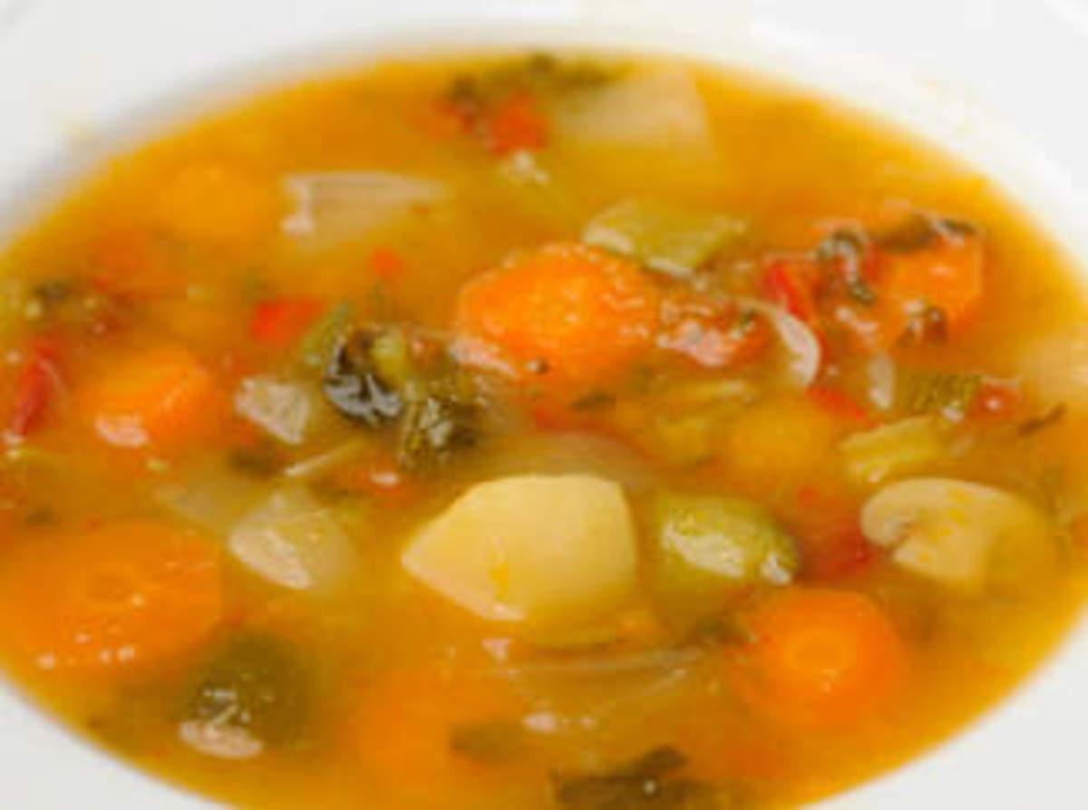Vegetable Vegemite stew (Vegemite used as a vegetable stock flavouring in a vegetable stew)