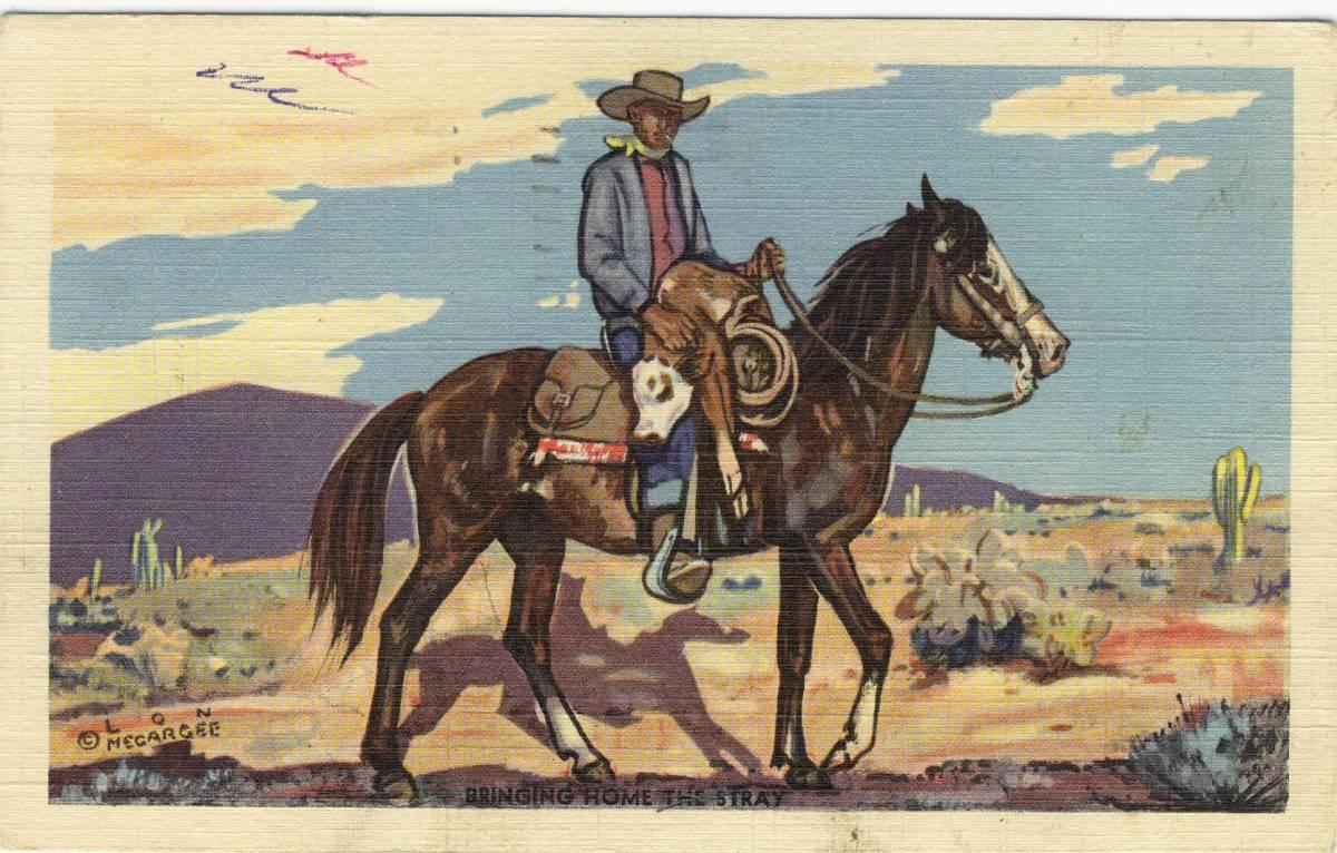 Alonzo Lon Megargee Arizona Cowboy Artist 1883-1960