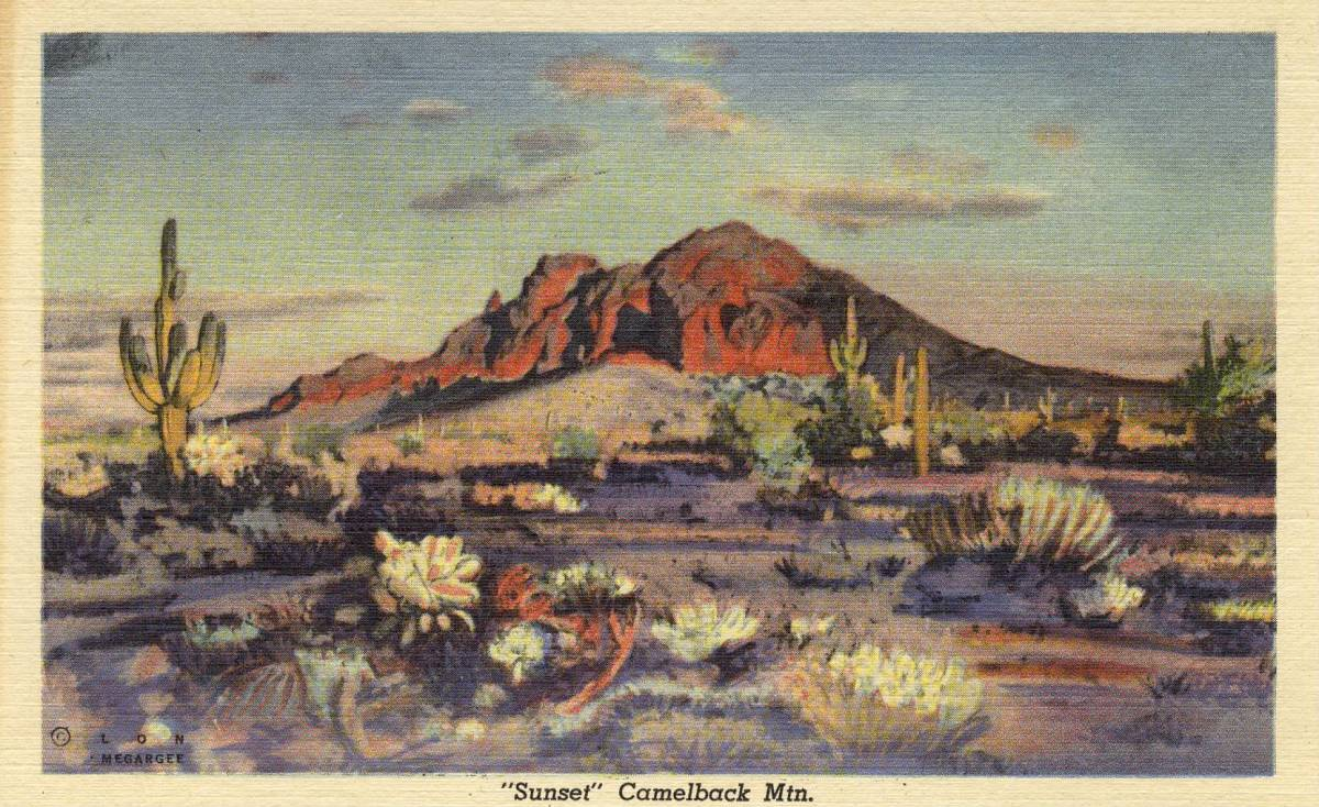 Camelback Mountain by Arizona artist Lon Megargee