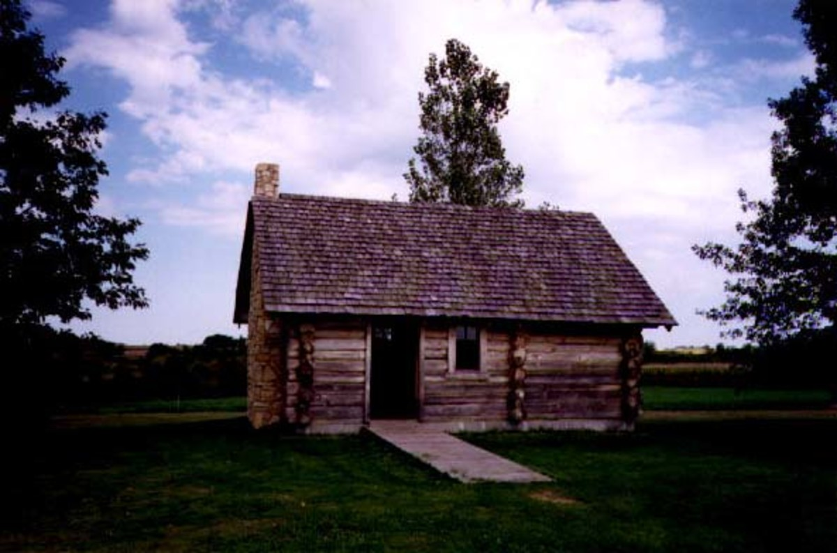 The log cabin of Laura Elizabeth Ingalls birthplace.