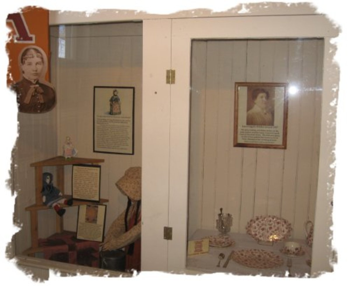 Some artifacts in the Laura Ingalls Wilder Museum.