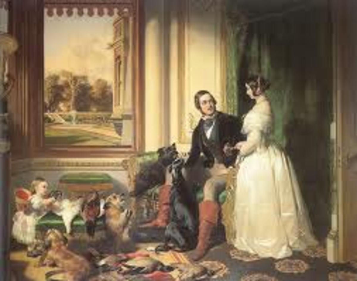 Victoria and Albert at home.