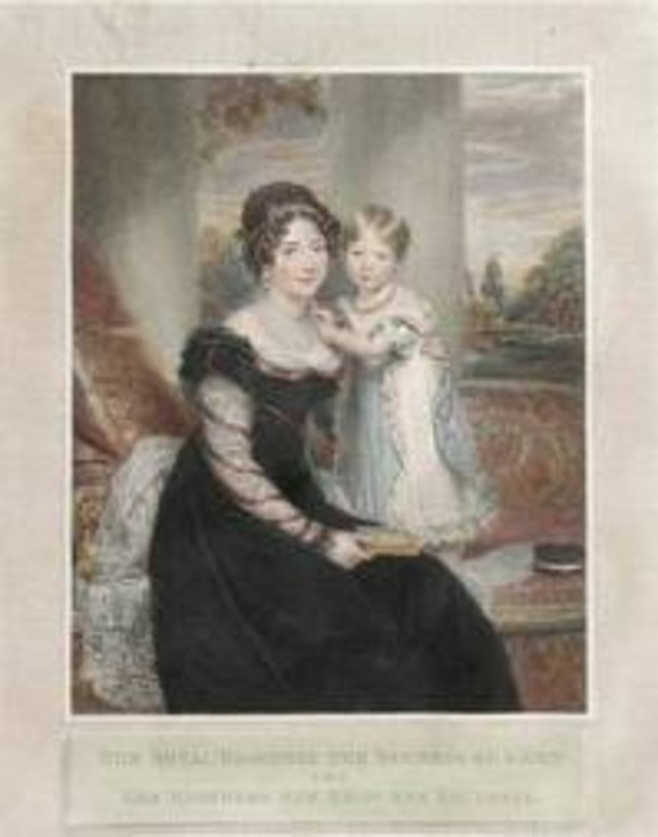 Young Victoria with her controlling mother.