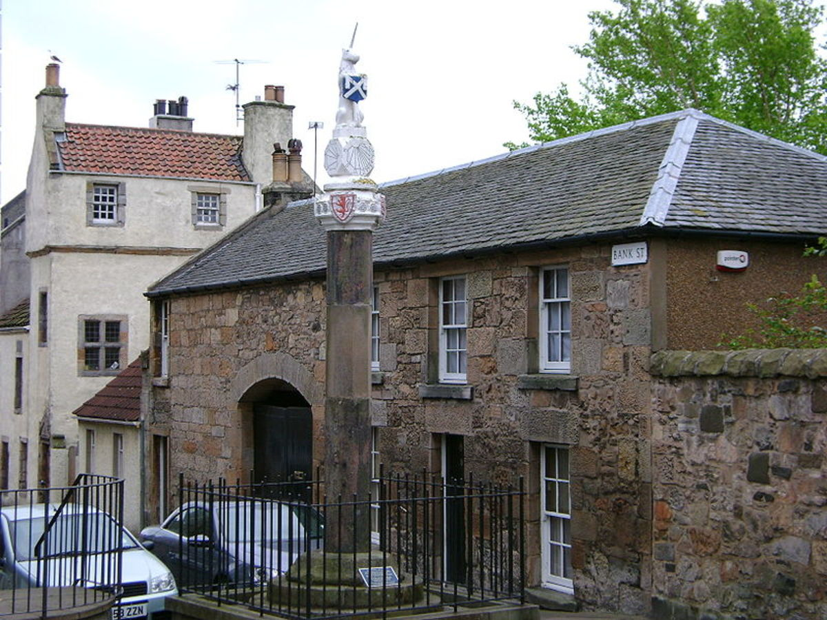 Mercat Cross Inverkeithing. These areas were often used as the site of public executions for witchcraft and other crimes.