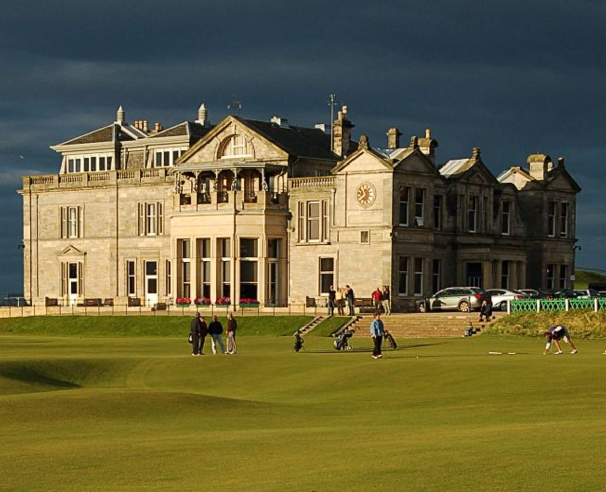 The Royal and Ancient Club House at the world famous St. Andrews Golf Course.