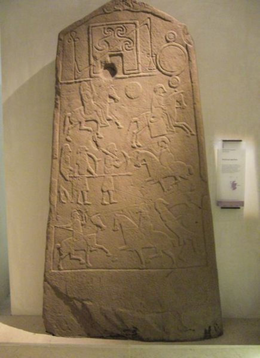 One of the few Pictish carved stones in existence. They give valuable insight into the life and culture of these mysterious people.
