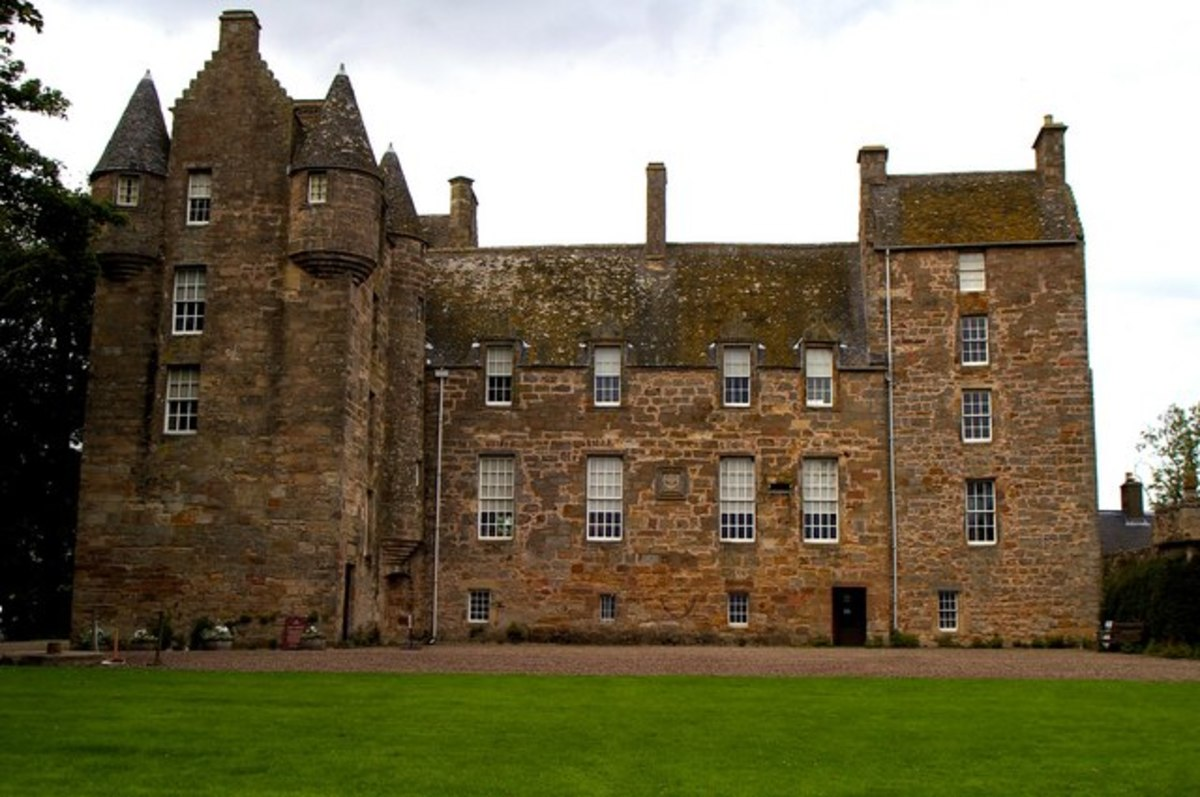 Kellie Castle in Fife - beautiful, historical and haunted.