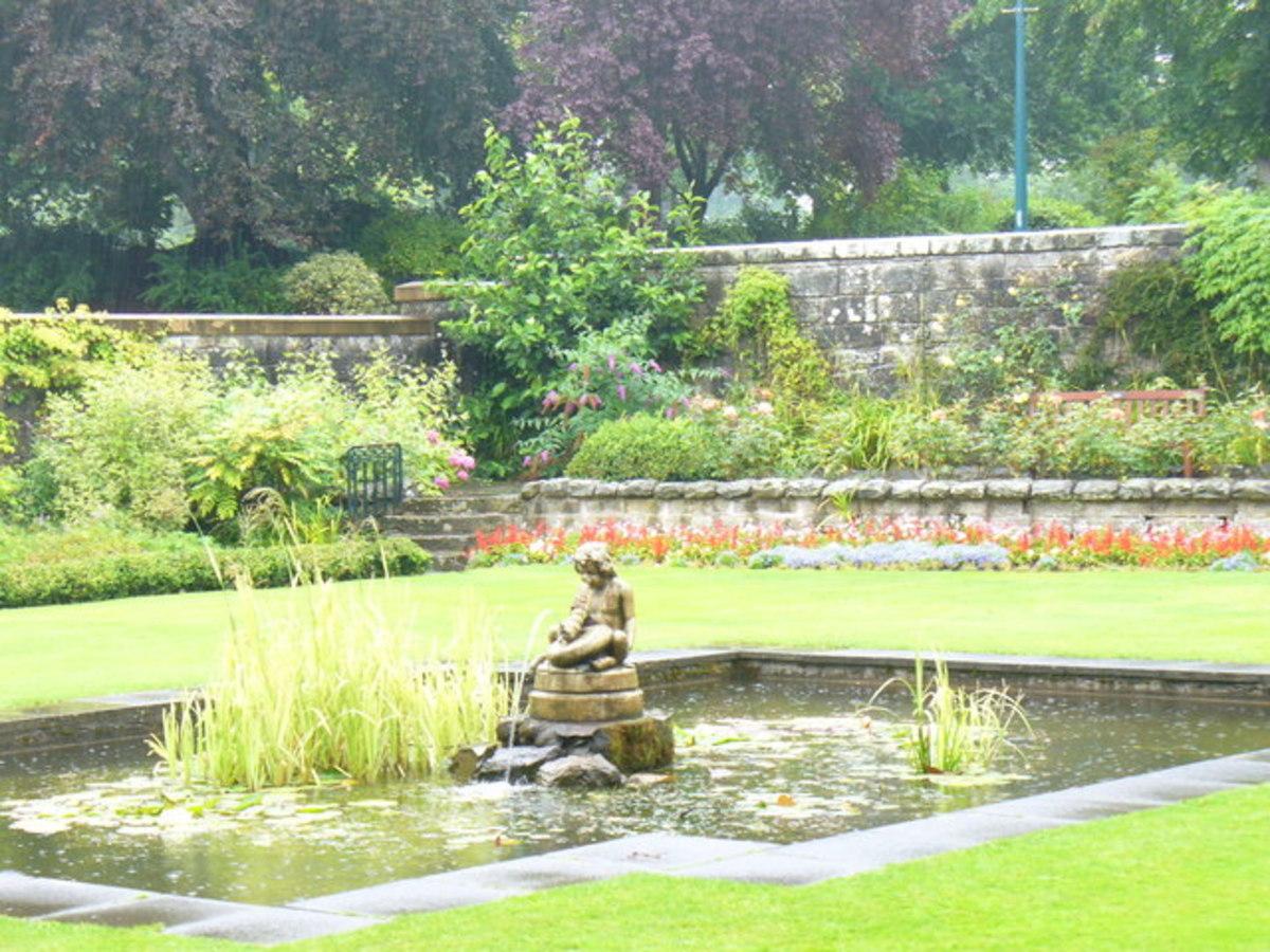 Formal gardens in Pittencrief Park, Dunfermline.