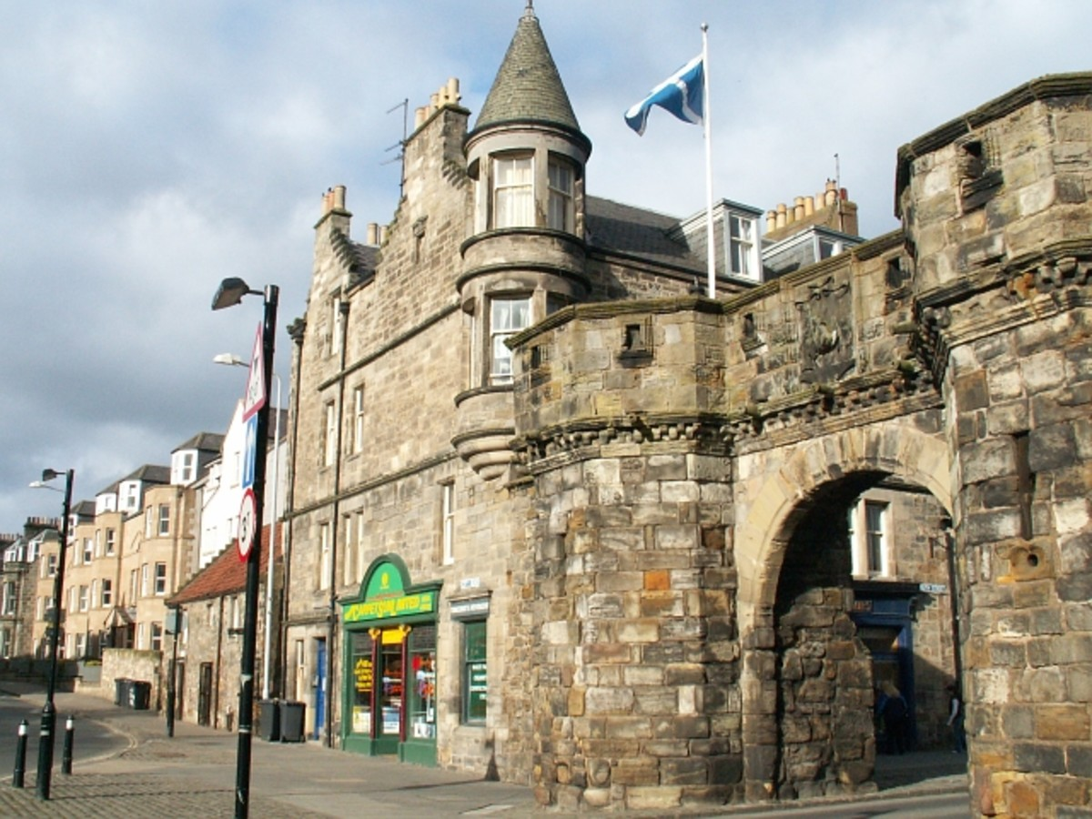 The West Port of St. Andrews. The 'port' is just another name for a city gate or entrance.
