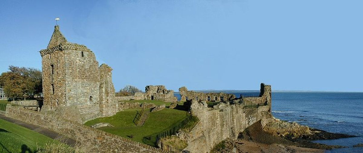 The historic and possibly haunted, St. Andrews Castle.