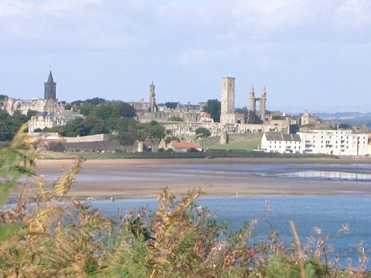 St. Andrews in Fife, one of the oldest and most beautiful towns in the area.