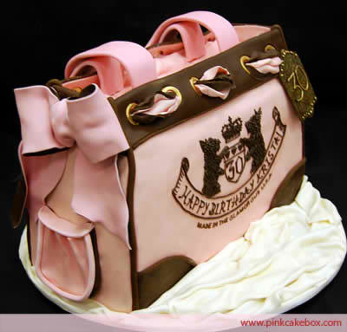 This juicy couture purse cake is definitely a great inspiration towards my next handbag.
