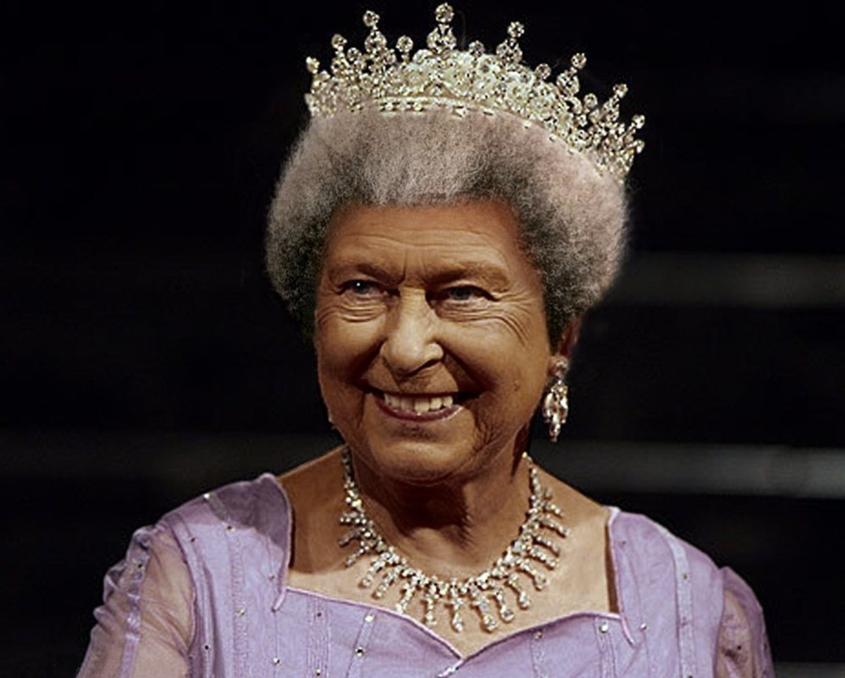 Black Queen Elizabeth II