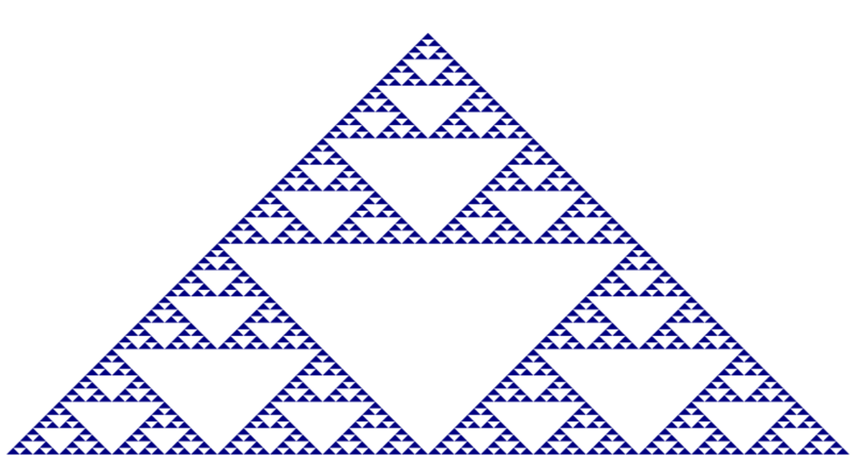 A Fractal Pattern within Pascal's Triangle. This pattern is often used in making quilt patterns.
