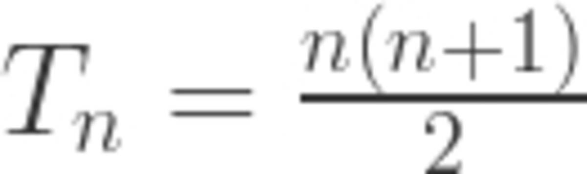 Formula for Triangular Numbers (T)