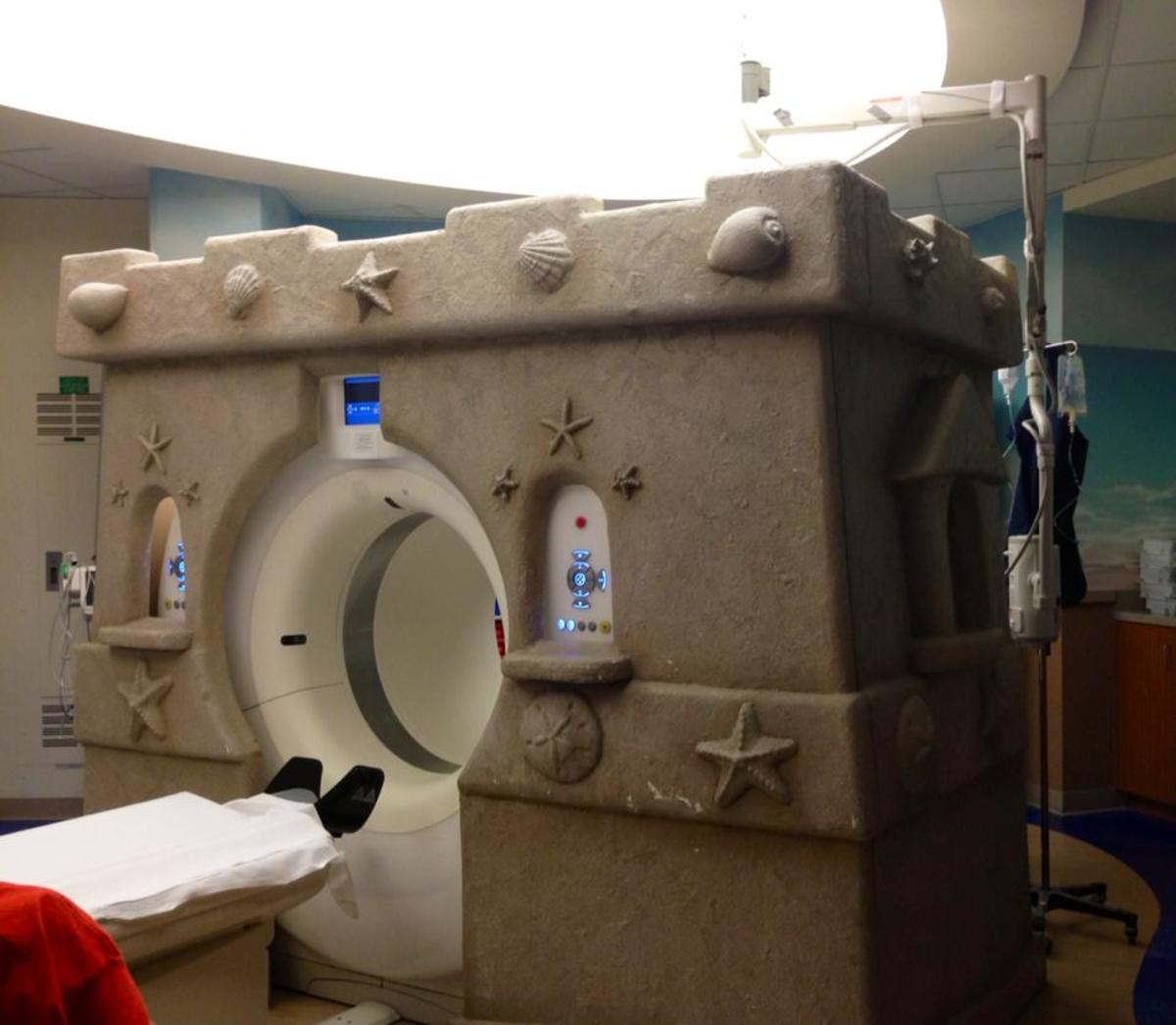 """The Imaging Department at Celebration Hospital in Orlando has an """"Under The Sea"""" theme! It's funtastic!"""