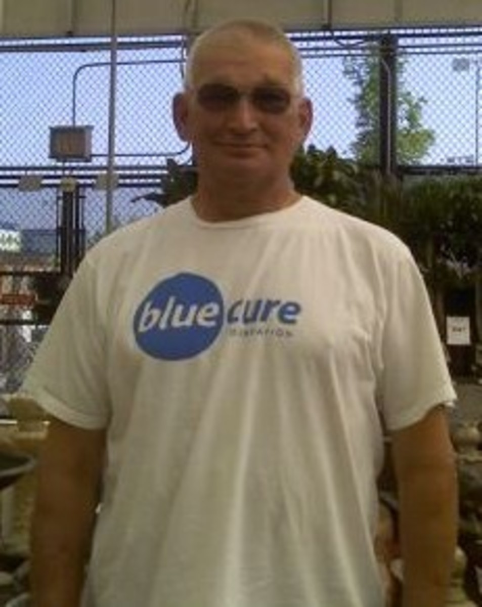 My husband Dave who battles Prostate Cancer on a daily basis. July 2008.