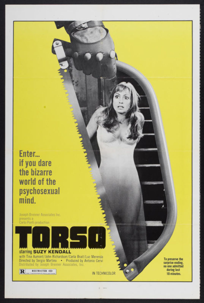 Torso Poster (woman in saw)