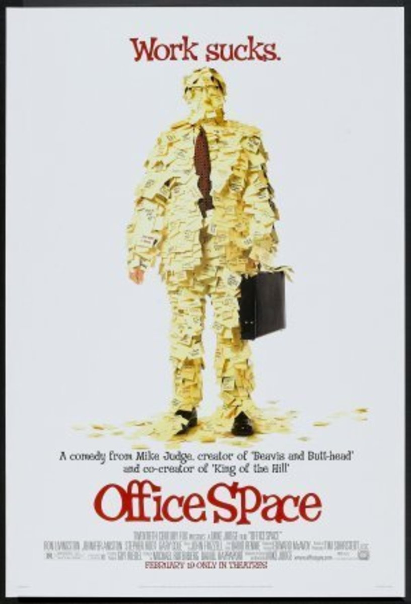 Office Space Poster (man covered in post it notes)