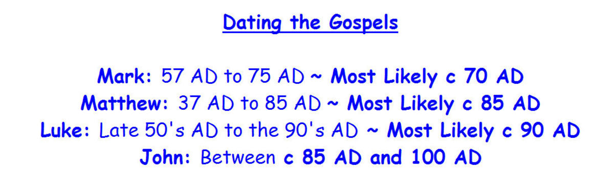 Late dating gospels