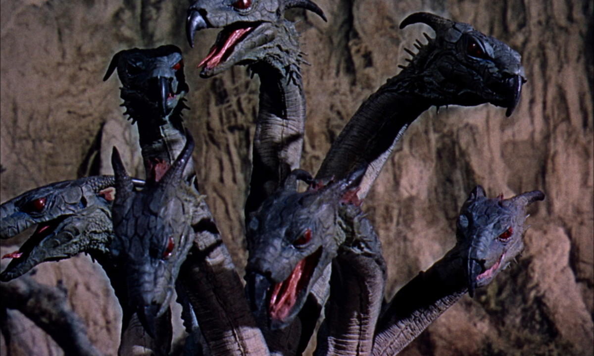 "The seven-headed Hydra in ""Jason and the Argonauts"""