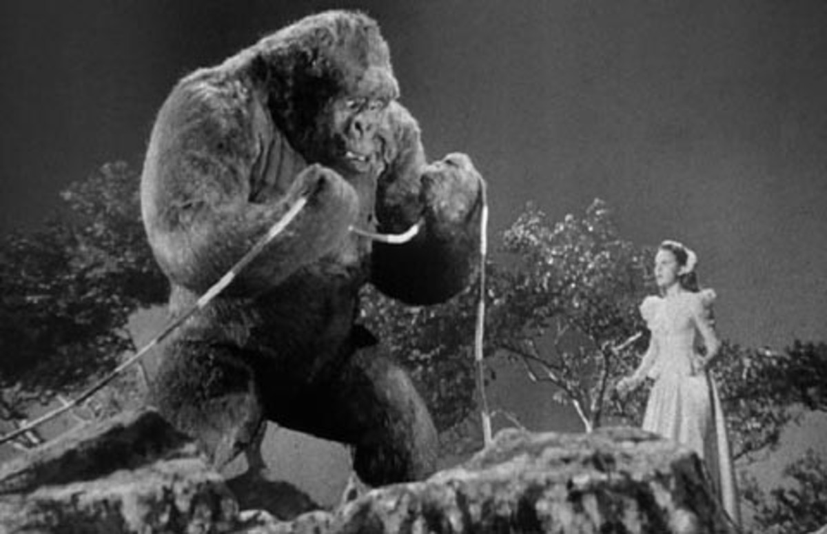 "Scene from ""Mighty Joe Young"""