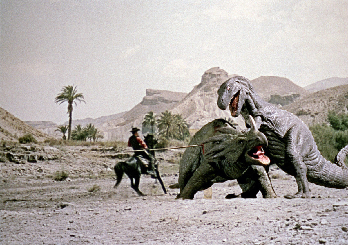 "Scene from ""The Valley of Gwangi"""