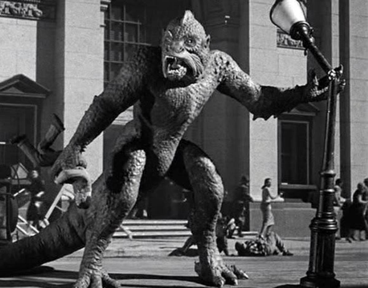 Harryhausen's monster from Venus runs amok