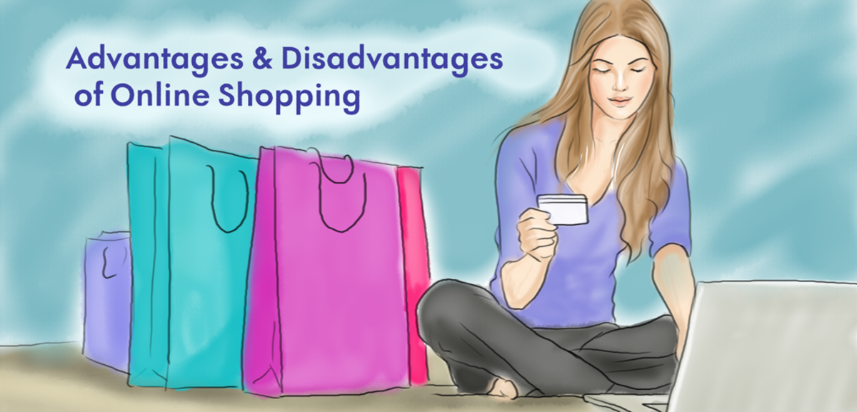 The advantages and disadvantages of online shopping.