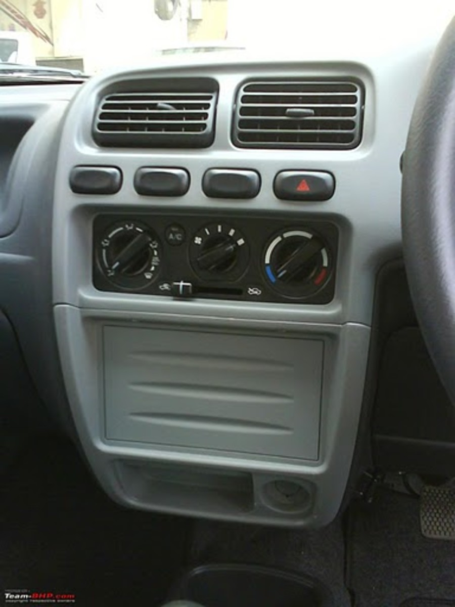 Alto K10 AC and stereo panel